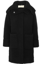 Burberry Brit Waffle-knit wool and cashmere-blend cardi-coat