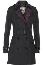 Burberry London Jacquard-paneled cotton-gabardine trench coat