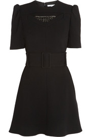 Carven Embellished wool-crepe mini dress