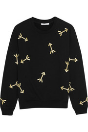 Carven Embroidered jersey sweatshirt