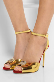 Charlotte Olympia Sophia embellished metallic leather sandals