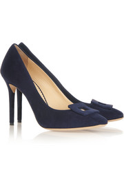 Charlotte Olympia Catherine suede pumps