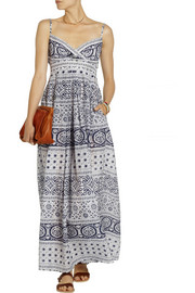 Collette by Collette Dinnigan Indiana printed cotton and silk-blend maxi dress