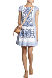 Collette by Collette Dinnigan Moroccan Mosaic printed linen mini dress