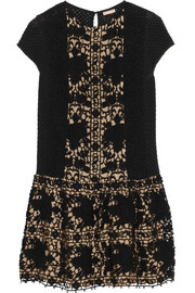 Collette by Collette Dinnigan Cotton-lace mini dress