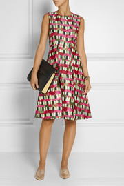 Marni Printed wool and silk-blend dress