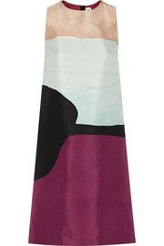 Marni Printed cotton and silk-blend dress
