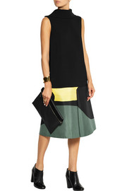 Marni Printed cotton and silk-blend skirt