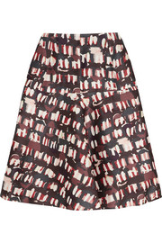 Marni Printed wool and silk-blend skirt