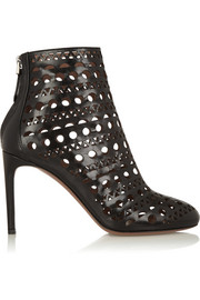 Alaïa Laser-cut leather ankle boots