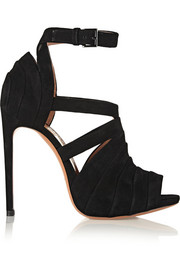 Alaïa Folded suede sandals