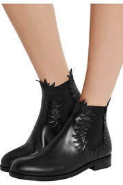 Alaïa Flame-detailed leather ankle boots