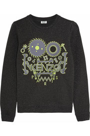 Monster metallic cotton-blend sweatshirt