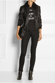 BLK DNM 70 shearling-trimmed leather jacket