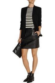 BLK DNM 20 leather mini skirt