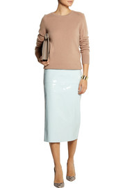 Rochas Patent-leather midi skirt