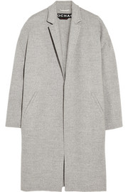 Rochas Brushed wool and angora-blend coat