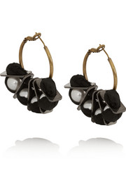 Lanvin Gold-tone faux pearl earrings