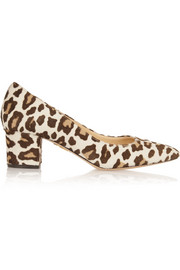 Oprah leopard-print calf hair pumps
