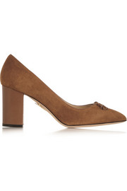 Charlotte Olympia Michelle tasseled suede pumps