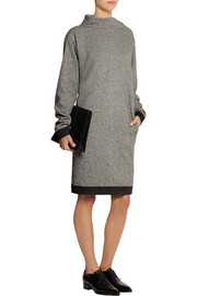 TOME Silk-trimmed wool-blend dress
