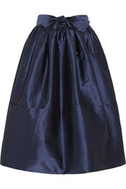 TOME Pleated taffeta midi skirt