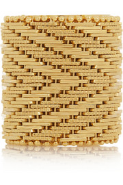 Givenchy Woven ring in gold-tone brass