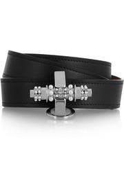 Obsedia bracelet in black leather