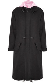 Julien David Satin shell-lined wool-gauze parka