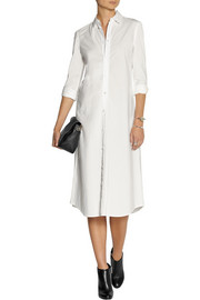 Julien David Washed cotton-poplin shirt dress