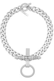Givenchy Obsedia necklace in silver-tone brass, crystal and faux pearl