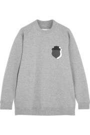 Julien David Printed cotton-jersey sweatshirt