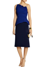 Roland Mouret Agonum one-shoulder folded crepe top