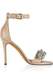 Monia leather sandals with crystals