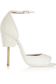 Givenchy Matilda sandals in white textured-leather