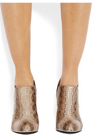 Givenchy Elia ankle boots in taupe and rust elaphe