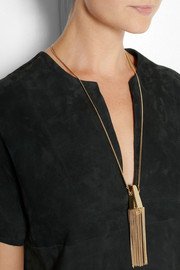 Chloé Delfine gold-tone tassel necklace