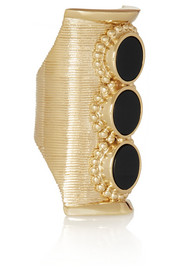 Chloé Gold-tone onyx ring