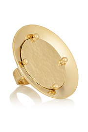Djill gold-tone disc ring