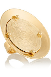 Djill gold-tone disk ring