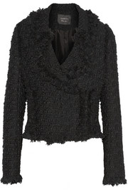 Lanvin Wool-blend tweed biker jacket