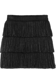 Lanvin Tiered fringed mini skirt