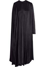 Lanvin Asymmetric satin midi dress