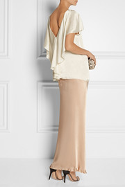 Lanvin Draped-back satin top