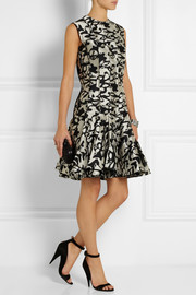 Lanvin Flared jacquard mini dress