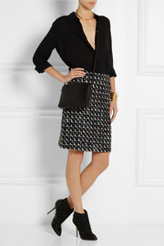 Lanvin Wool and cotton-blend bouclé-tweed skirt