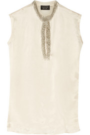 Lanvin Bead-embellished satin blouse