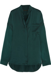 Haider Ackermann Oversized washed-silk satin shirt
