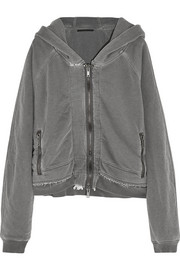 Haider Ackermann Reversible cotton-jersey hooded top