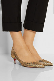 Christian Louboutin Iriza 45 metallic brocade pumps